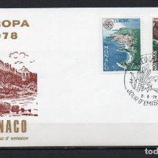 Sellos: FDC, SOBRE DE PRIMER DÍA DE EMISIÓN DE MÓNACO -TEMA EUROPA CEPT-, AÑO 1978. Lote 260380100