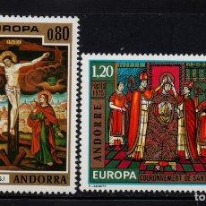 Sellos: ANDORRA 243/44** - AÑO 1975 - EUROPA - PINTURA - OBRAS DEL SIGLO XVI. Lote 261590440
