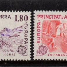 Sellos: ANDORRA 313/14** - AÑO 1983 - EUROPA - GRANDES OBRAS DE LA HUMANIDAD. Lote 261593555