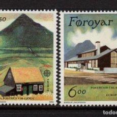 Sellos: FEROE 192/93** - AÑO 1990 - EUROPA - EDIFICIOS POSTALES. Lote 261611705