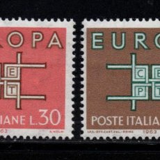 Sellos: ITALIA 895/96** - AÑO 1963 - EUROPA. Lote 262763570