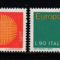 Sellos: ITALIA 1047/48** - AÑO 1970 - EUROPA. Lote 262769690