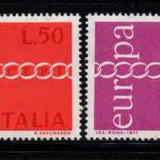 Sellos: ITALIA 1072/73** - AÑO 1971 - EUROPA. Lote 262773380