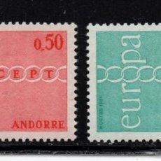 Sellos: ANDORRA 212/13** - AÑO 1971 - EUROPA. Lote 264230692
