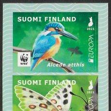 Timbres: FINLANDIA 2021 EUROPA CEPT SET DEL CARNET AUTOADHESIVO - NUEVO MNH. Lote 264495924