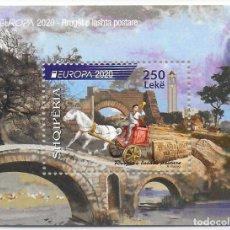 Sellos: ALBANIA 2020 EUROPA CEPT HOJITA NUEVO MNH. Lote 268156004