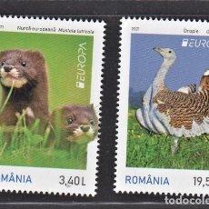 Timbres: 10.- RUMANIA 2021 EUROPA 2021 ANIMALES EN PELIGRO DE EXTINCION. Lote 277139428