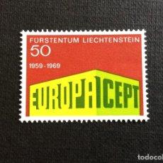 Sellos: LIECHTENSTEIN Nº YVERT 454*** AÑO 1969. EUROPA.. Lote 277849733