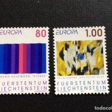 Sellos: LIECHTENSTEIN Nº YVERT 995/6*** AÑO 1993. EUROPA. ARTE CONTEMPORANEO. Lote 277849883