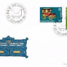 Sellos: LUXEMBURGO IVERT Nº 937/8, EUROPA 1979, HISTORIA DEL CORREO, PRIMER DIA DE 30-4-1979. Lote 278405728