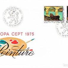 Sellos: LUXEMBURGO IVERT 856/7 CUADROS PUENTE DE REMICH DEKLOPP Y BODEGON DE KUTTER PRIMER DIA DE 28-4-1975. Lote 278407343