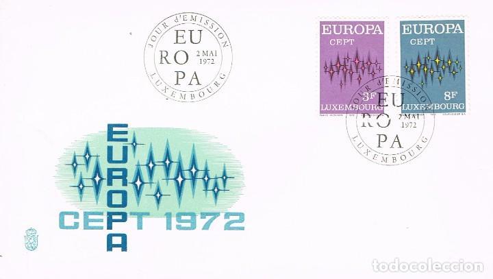 LUXEMBURGO IVERT Nº 796/7, EUROPA 1972, PRIMER DIA DE 2-5-1972 (Sellos - Temáticas - Europa Cept)