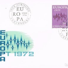 Sellos: LUXEMBURGO IVERT Nº 796/7, EUROPA 1972, PRIMER DIA DE 2-5-1972. Lote 278409808