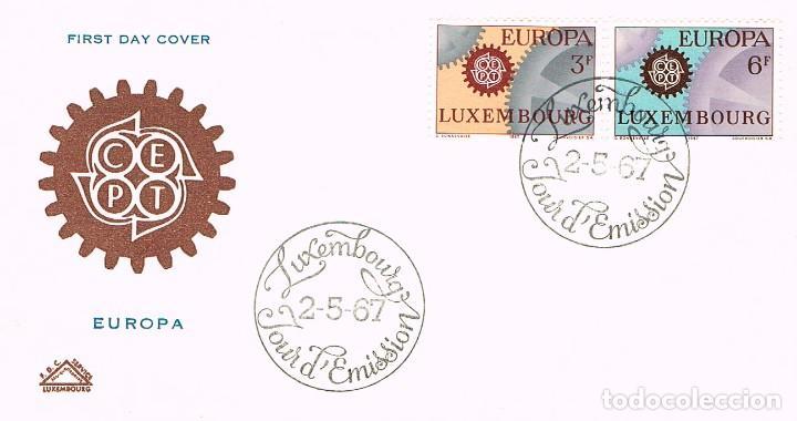 LLUXEMBURGO IVERT 700/1, EUROPA 1967, PRIMER DIA DE 2-5-1967 (Sellos - Temáticas - Europa Cept)