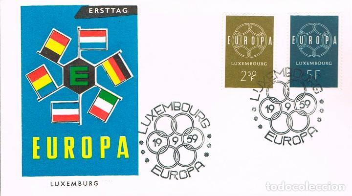 LUXEMBURGO 567/8, 567/8, EUROPA 1959, PRIMER DIA DE 19-9-1959 (Sellos - Temáticas - Europa Cept)