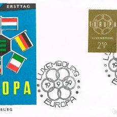 Sellos: LUXEMBURGO 567/8, 567/8, EUROPA 1959, PRIMER DIA DE 19-9-1959. Lote 278410688