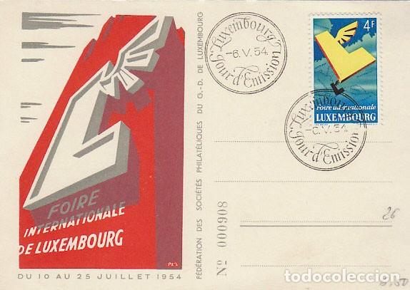 LUXEMBURGO, IVERT Nº 483. 6º FERIA INTERNACIONAL DE LUXEMBURGO. PRIMER DIA DEL 6-5-1954 (Sellos - Temáticas - Europa Cept)
