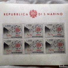 Sellos: EUROPA CEPT AÑO 1962 SAN MARINO, MINIPLIEGO DE 6 SELLOS. Lote 285597463