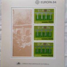 Sellos: MADEIRA H.B. Nº 5** EUROPA 1984 8 HOJITAS. Lote 285609453
