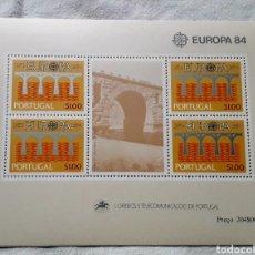 Sellos: EUROPA CEPT 1984 PORTUGAL 4 HOJITAS BLOQUE **. Lote 285747323