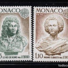 Sellos: MONACO 957/58** - AÑO 1974 - EUROPA - ESCULTURA. Lote 287340353