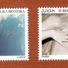 Sellos: SELLOS TEMA EUROPA 1995 CROACIA 2V. B. Lote 287766448