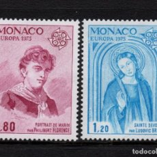 Sellos: MONACO 1003/04** - AÑO 1975 - EUROPA - PINTURA. Lote 288091108