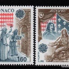 Sellos: MONACO 1322/23** - AÑO 1982 - EUROPA - HECHOS HISTORICOS. Lote 288093258