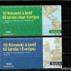 Sellos: EUROPA CEPT ISLANDIA 1994, DOS CARNETES TEMA DESCUBRIMIENTO. MNH.. Lote 289407883