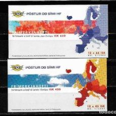 Sellos: EUROPA CEPT ISLANDIA 1997, DOS CARNETES TEMA CUENTOS Y LEYENDAS MNH.. Lote 289408358