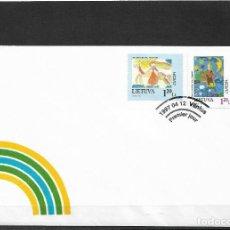 Sellos: EUROPA CEPT LITUANIA 1997, SOBRE PRIMER DÍA DE CIRCULACIÓN, FDC.. Lote 289410733
