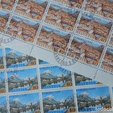 Sellos: 2 MINIPLIEGOS DE 25 SELLOS (CADA UNO) SUIZA 1977 – EUROPA CEPT. Lote 293185598