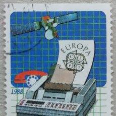 Sellos: 1988. GRECIA. 1665. TEMA EUROPA. COMUNICACIONES. USADO.. Lote 293744353
