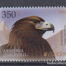 Sellos: 20.- ARMENIA 2021 EUROPA 2021 ANIMALES EN PELIGRO DE EXTINCIÓN. Lote 293806323