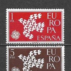 Sellos: ESPAÑA 1961 SERIE COMPLETA ** MNH EUROPA CEPT - 3/22. Lote 293823388