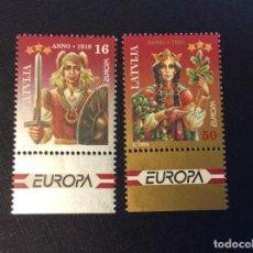 Sellos: LETONIA Nº YVERT 372/3*** AÑO 1995. EUROPA. PAZ Y LIBERTAD. Lote 294498908