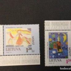 Sellos: LITUANIA Nº YVERT 556/7** AÑO 1997. EUROPA. CUENTOS Y LEYENDAS. Lote 294499388