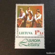 Sellos: LITUANIA Nº YVERT 580*** AÑO 1998. EUROPA. FESTIVALES NACIONALES. Lote 294499483
