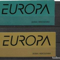 "Sellos: EUROPA CEPT BOSNIA HERZEGOVINA CROATA 2001, DOS CARNETS TEMA "" EL AGUA "" MNH.. Lote 295432713"