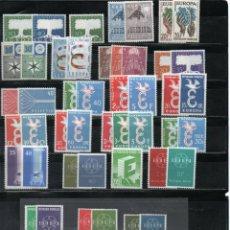 Sellos: EUROPA CEPT AÑOS 1957 AL 1960 COMPLETO INCLUIDO SOBRES PRIMER DÍA. MNH.. Lote 295800483