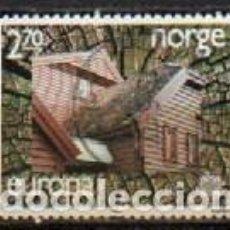 Sellos: NORUEGA IVERT Nº 921, EUROPA 1987. ARQUITECTURA MODERNA. USADO. Lote 296636658