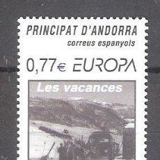 Sellos: ANDORRA (DESPACHO ESPAÑOL) Nº 317** EUROPA. VACACIONES. SERIE COMPLETA. Lote 296883528
