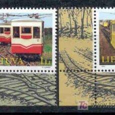 Sellos: LITUANIA 2004.- MONUMENTOS TECNICOS. FUNICULARES DE KAUNAS. Lote 3181203