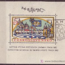 Sellos: CHECOSLOVAQUIA HB 21 AÑO 1962 - EXPOSICION FILATÉLICA INTERNACIONAL - PRAGA 62. Lote 19098738
