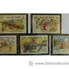 Sellos: MAN 1990 TRADICIONES DE LA ISLA DE MAN 5 SELLOS. Lote 25336883