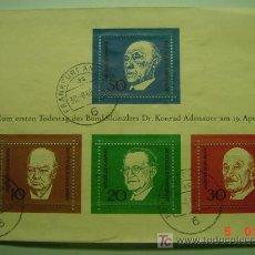Sellos: 462 HOHA BLOQUE ALEMANIA GERMANY KONRAD ADENAUER - CHURCHILL ETC - COSAS&CURIOSAS. Lote 5366553