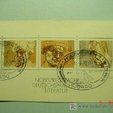 Sellos: 465 HB HOJA BLOQUE ALEMANIA GERMANY - PREMIOS NOBEL LITERATURA - COSAS&CURIOSAS. Lote 5366560