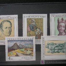 Sellos: CHECOSLOVAQUIA 1980 IVERT 2415/19 *** CUADROS GALERIAS NACIONALES - PINTURA. Lote 21906752