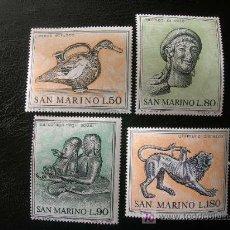 Sellos: SAN MARINO 1971 IVERT 787/90 *** ARTE ETRUSCO (I). Lote 8711384