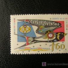 Sellos: CHECOSLOVAQUIA 1962 IVERT 1235 *** JORNADA FEDERACIÓN INTERNACIONAL DE FILATELIA - PRAGA 62. Lote 22376302